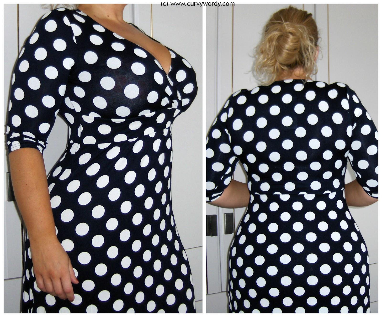 b890af48962 Roman Originals Polka Dot Dress - Curvy Wordy