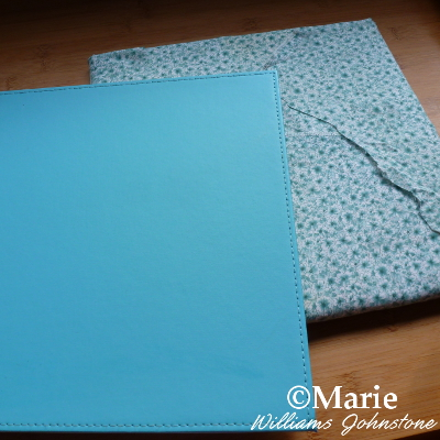 covering placemat with fabric