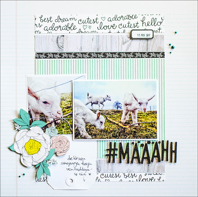 Stephanie Berger - Scrapbooking Layout - Creative Scrappers - Määääääh