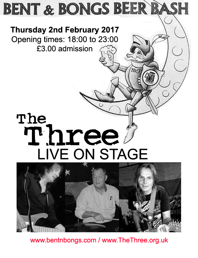The Three at the bent and Bongs Beer Festival 2017