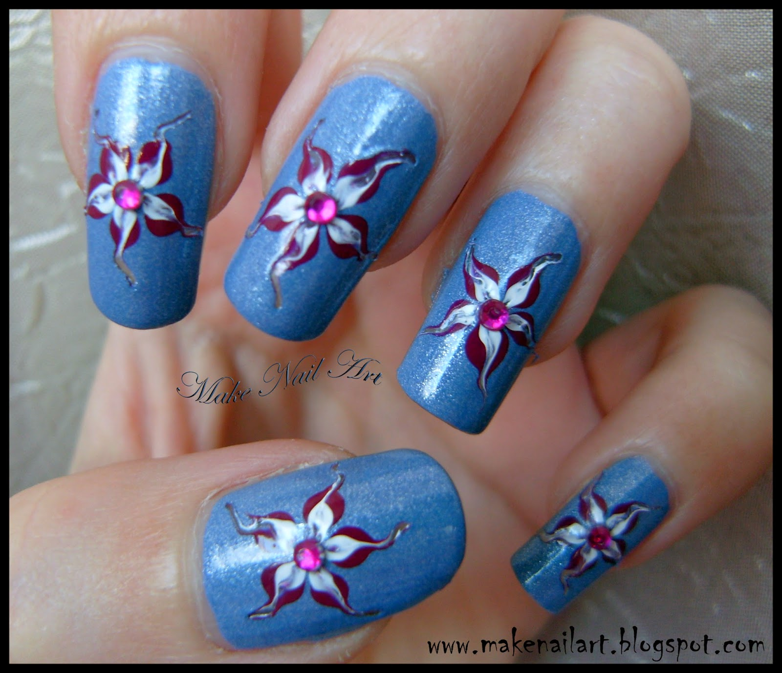Make Nail Art Easy Flower For Spring Nail Art Tutorial