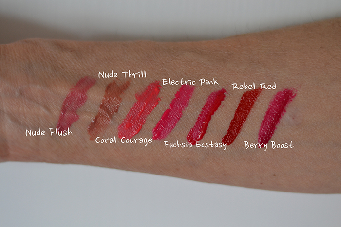 maybelline vivid matte swatches
