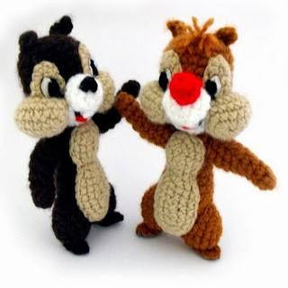 PATRON CHIP AND DALE AMIGURUMI 27902