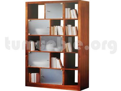 mueble libreria en teca 4122