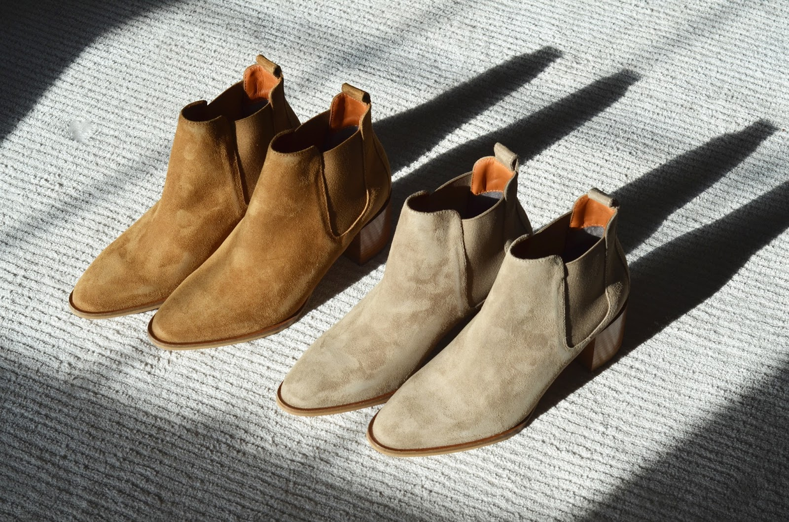Everlane Suede Heel Boot Taupe Gray Chestnut Review Photos Comparison