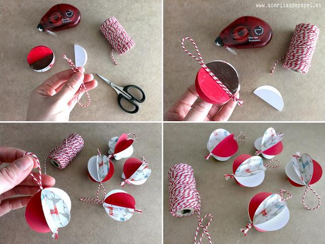 tutorial adornos navideños papel