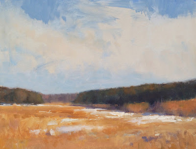 Snow Melt    14 x 18 inches | oil on canvas | Steve Allrich
