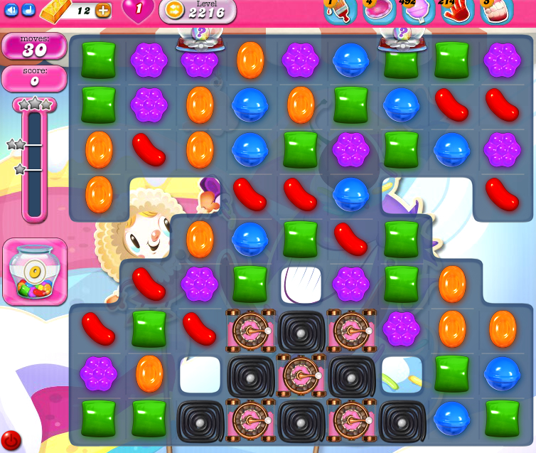 Candy Crush Saga level 2216