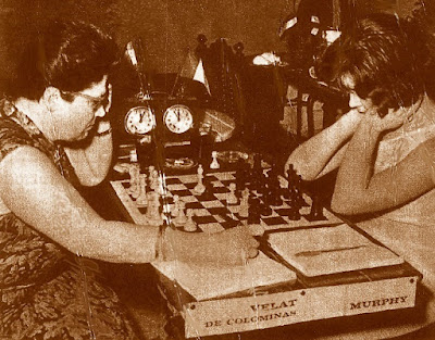 VI Torneo Zonal Femenino del Oeste de Europa, partida de ajedrez Glòria Velat-Ann Murph