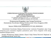 Dibuka !! Lowongan Non CPNS Kemenko Perekonomian RI 2018, Gaji 5 Juta/Bulan