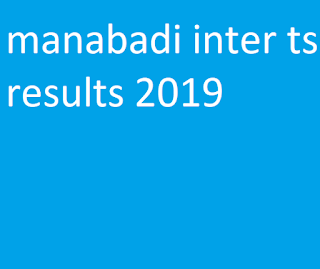 ts inter 2nd year general results 2019