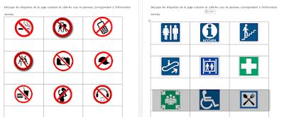 Pictogrammes d'interdiction et d'information