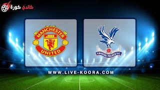 مشاهدة مباراة مانشستر يونايتد وكريستال بالاس بث مباشر 27-02-2019 الدوري الانجليزي