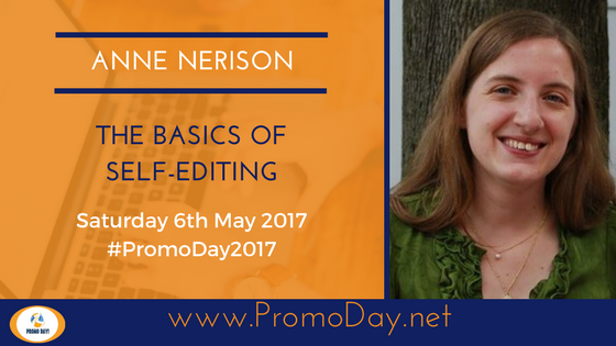#Webinar: The Basics of Self-Editing by Anne Nerison #PromoDay2017