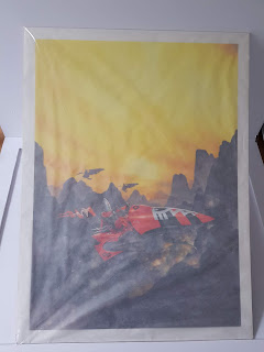 RIchard Wright's Eldar Jetbike - WIth Tracing Paper