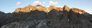 Alpenglühen an der Ritter Range