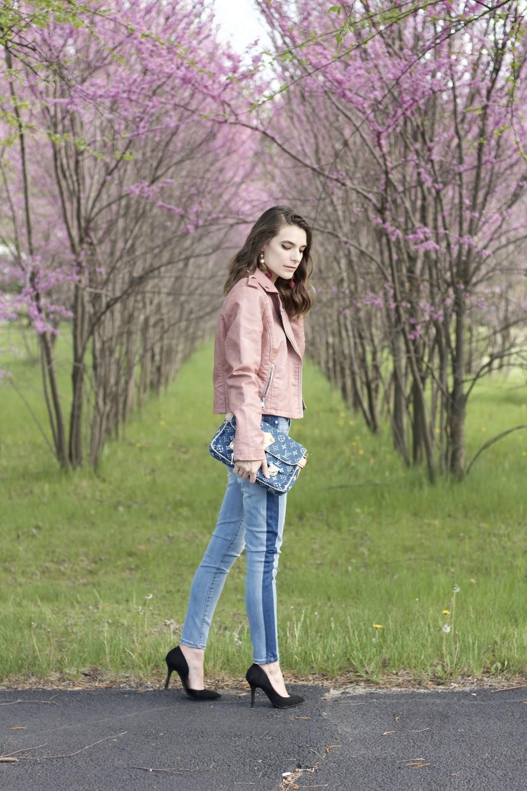Womens Celebrity Pink Tuxedo Jeans