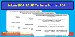 Juknis BOP PAUD 2019 Terbaru Format PDF