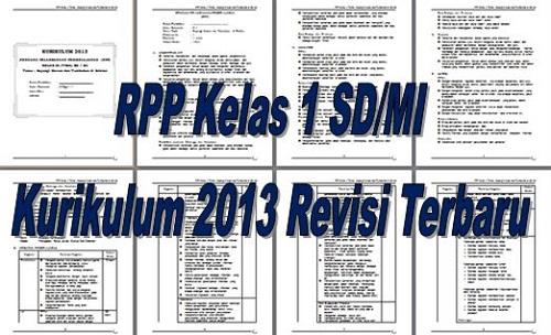 RPP Kelas 1 SD/MI Kurikulum 2013 Revisi Terbaru