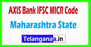 AXIS BANK IFSC MICR Code Maharashtra State