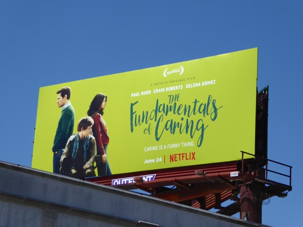 Fundamentals of Caring Netflix film billboard