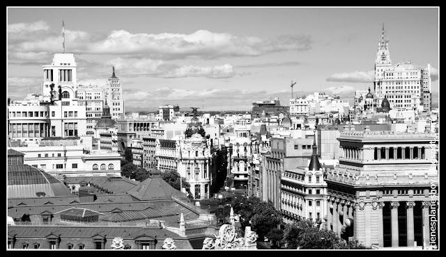 Vista de Madrid desde mirador del Palacio de Cibeles