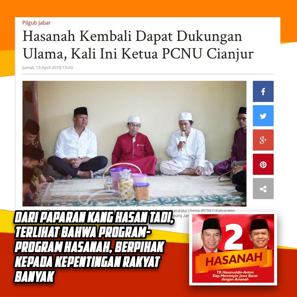 Ketua PCNU Cianjur Dukung Hasanah Untuk Jabar