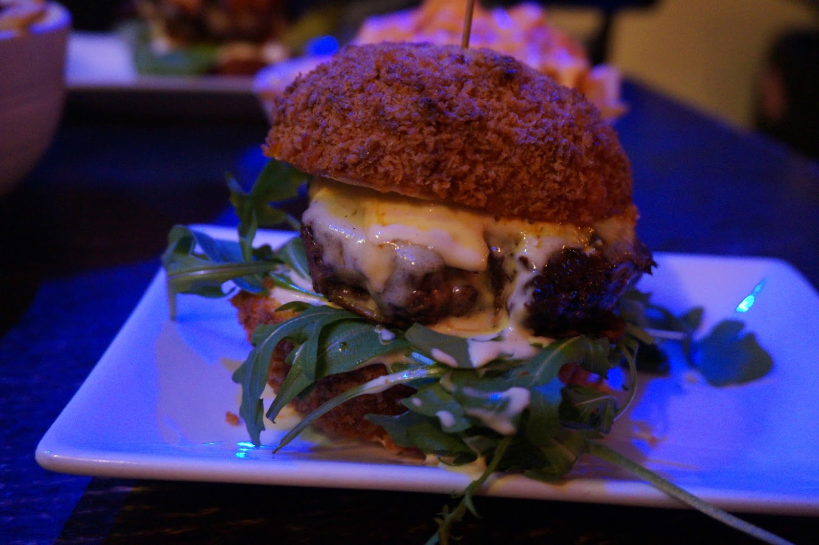 burger with scotch egg bun