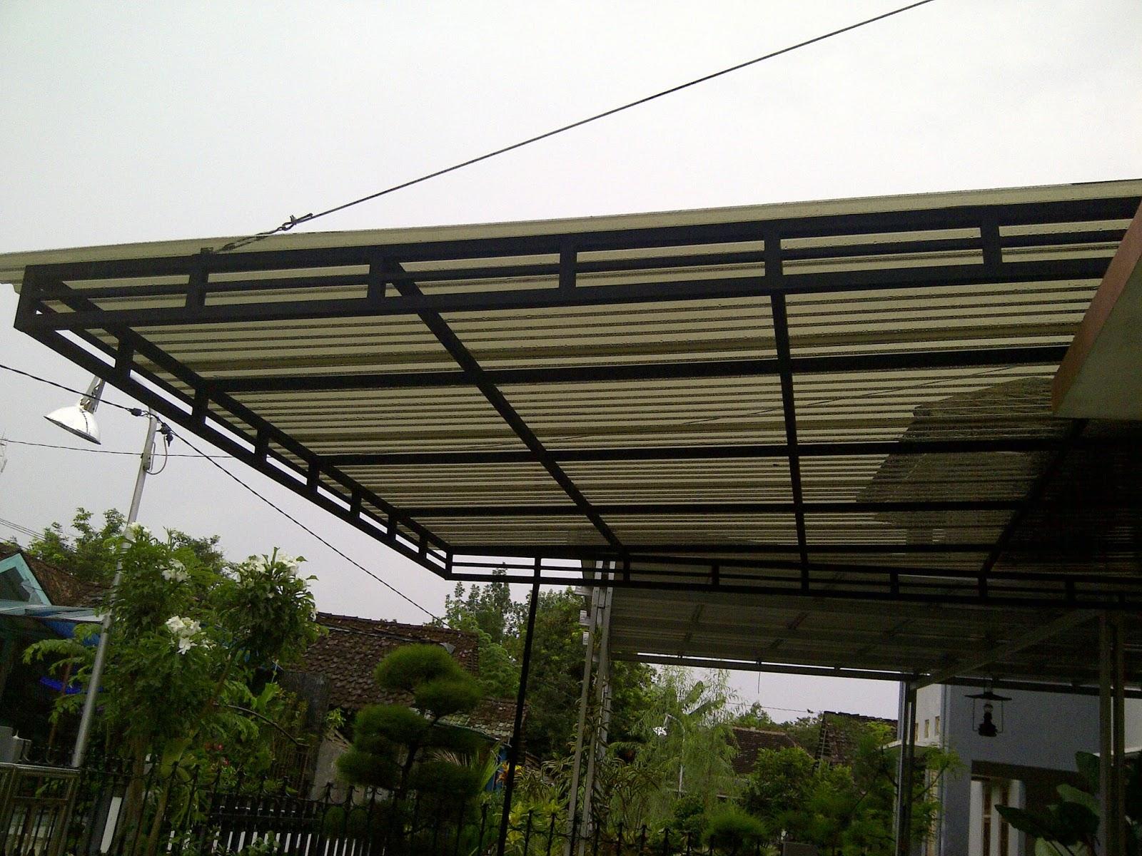 Kanopi minimalis murah jogja kanopy atap tuff