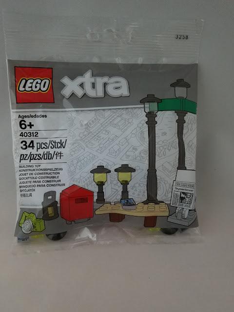 LEGO XTRA BUILDING TOY  STREET LIGHTS SET 40312  34 pcs.