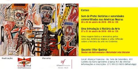 Sonoridades compartilhadas nas Américas Negras e História da Arte são temas de cursos que serão ministrados em Salvador