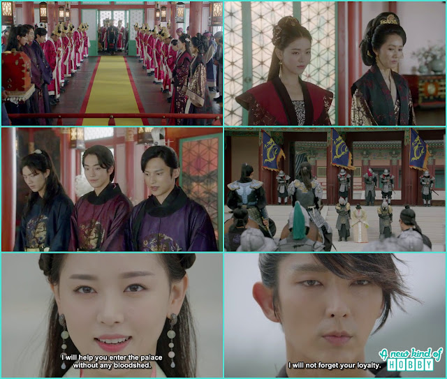 every one in the palace acknowledge King Wang So and he remembered how yeon hwa helped him entering the palace  - Moon Lovers Scarlet Heart Ryeo - Episode 17 (Eng Sub)