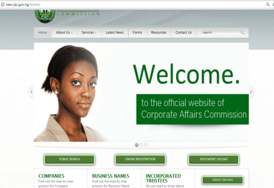 website to register a business name