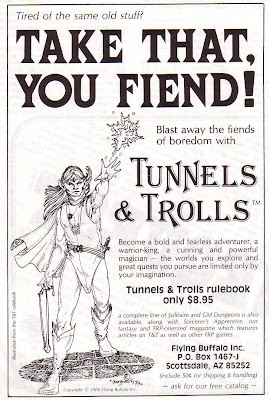 Tunnels and Trolls 1980 advertisement