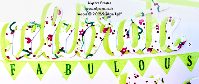 Stampin' Up!® 50th Birthday card using Pick a Pennant & Stamperatus®