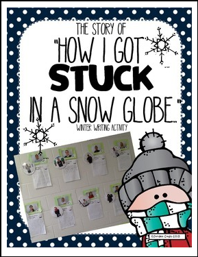 stuck in a snow globe writing activity for 2nd