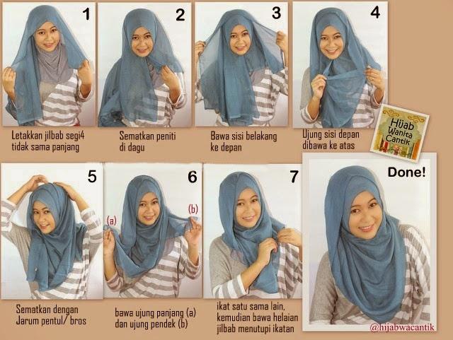 Model Jilbab Elzatta Segi Empat Polos Untuk Sekolah Dan Cara Memakainya