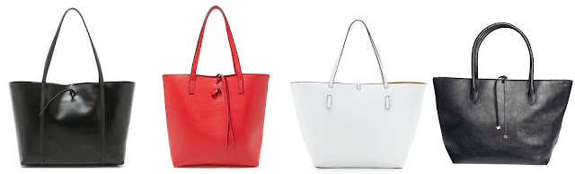 One of these tie-top totes is from Kara for $475 and the other three are under $43. Can you guess which one is the designer bag? Click the links below to see if you are correct! Tie top totes from Forever 21, H&M, Neiman Marcus, and Kara
