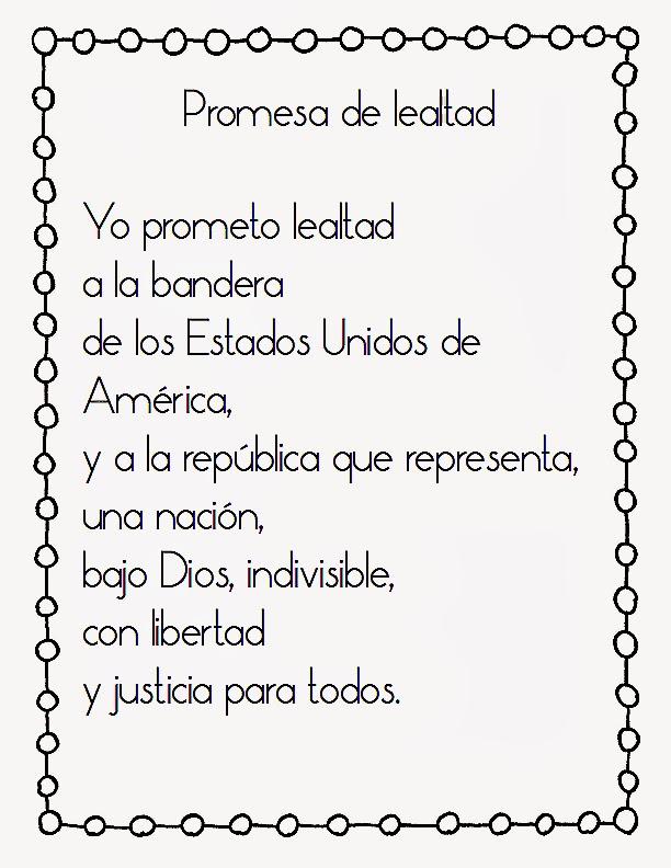 photo regarding Pledge of Allegiance Words Printable called Popular Main Blogger: The Pledge of Allegiance inside Spanish and