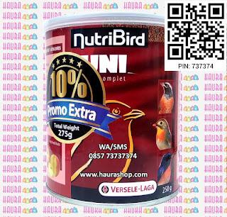 NutriBird Uni Komplet Verselelaga adalah pakan burung import dari belgia dengan komposisi yang lengkap dan seimbang. Dengan pemberian yang teratur dapat membuat burung lebih sehat sehingga rajin berkicau, bulu halus dan mengkilap.