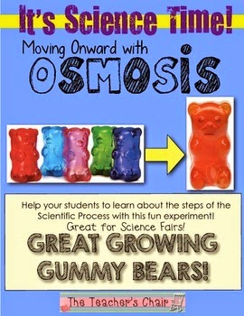 http://www.teacherspayteachers.com/Product/Its-Science-Time-Osmosis-The-Great-Growing-Gummy-Bear-Experiment-593921