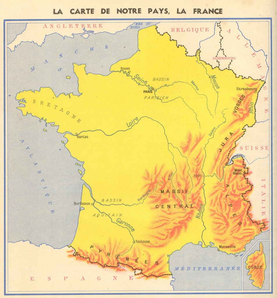 Map Of France Mountains.Online Maps Mountains In France