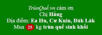 Trùn Quế về xã Ea Hu