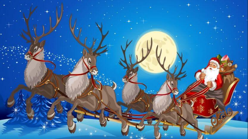 santa claus images with merry christmas