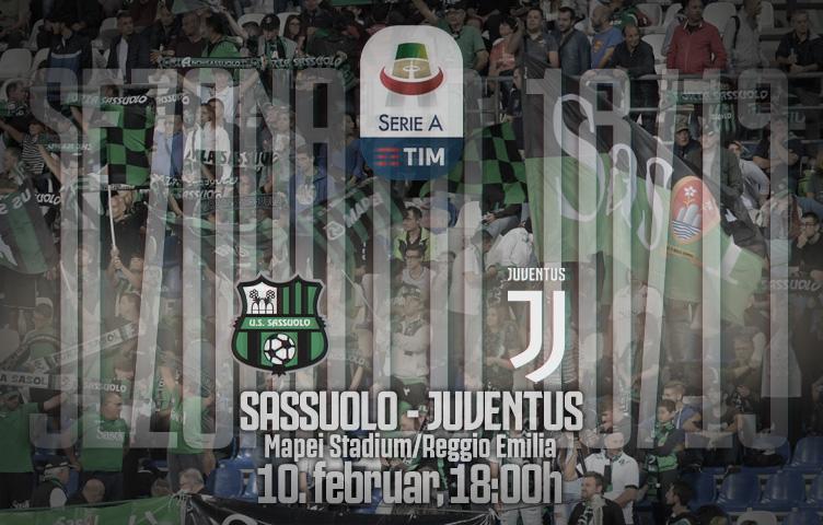 Serie A 2018/19 / 23. kolo / Sassuolo - Juventus, nedelja, 18:00h