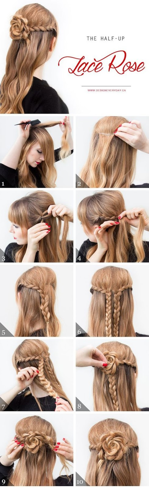 4 easy to do hairstyles for girls step by step this hairstyle is really amazing as you can do it by yourself best suited for girls who have long hair of all categories whether youre a school solutioingenieria Gallery