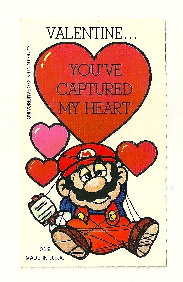 A POP CULTURE ADDICTS GUIDE TO LIFE Be My Pop Culture Valentine – Mario Valentines Cards