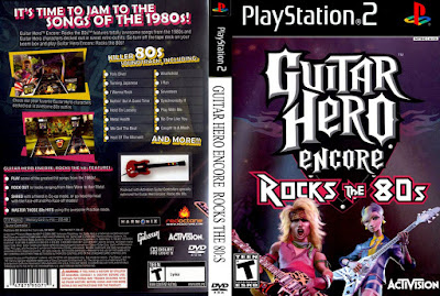 Jogo Guitar Hero Encore Rocks The 80s PS2 DVD Capa