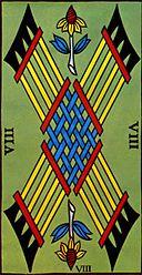 Les batons, exemple de carte OUI pour un tirage OUI NON