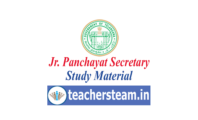 study material for jr panchayat secretary